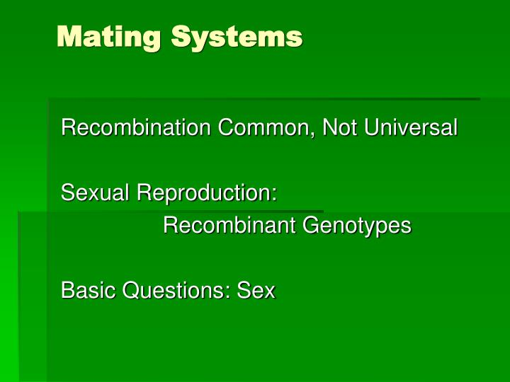 mating system