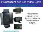 fluorescent and led video lights http flurovideolights com3