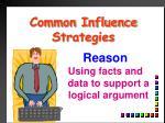 common influence strategies
