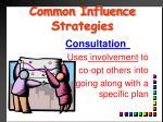 common influence strategies11