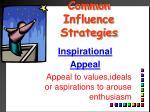 common influence strategies13