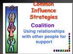 common influence strategies3