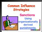 common influence strategies8