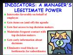 indicators a manager s legitimate power