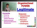 organizational power legitimate1