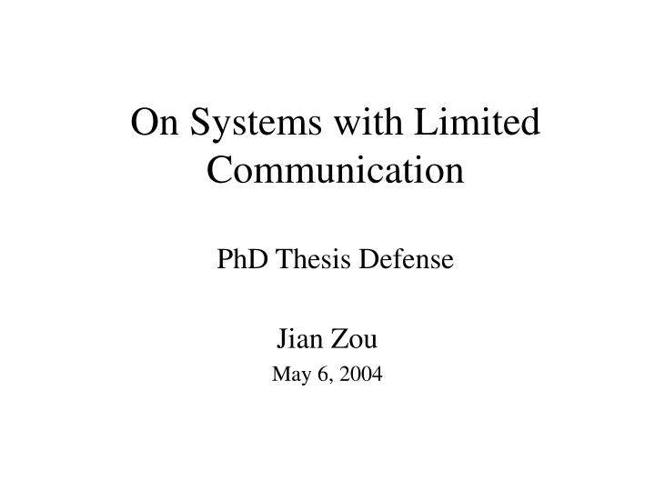 System identification phd thesis