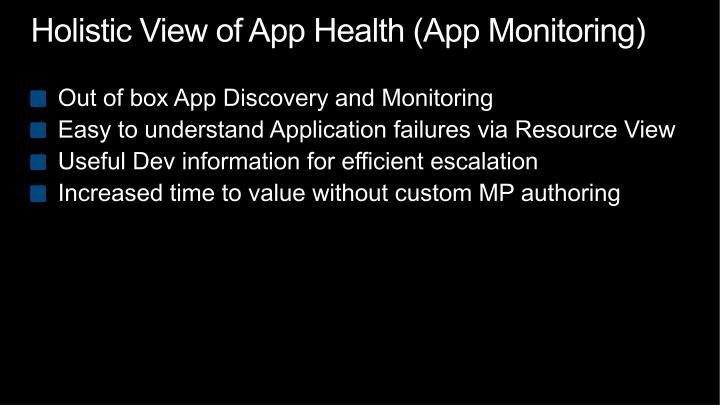 Holistic View of App Health (App Monitoring)