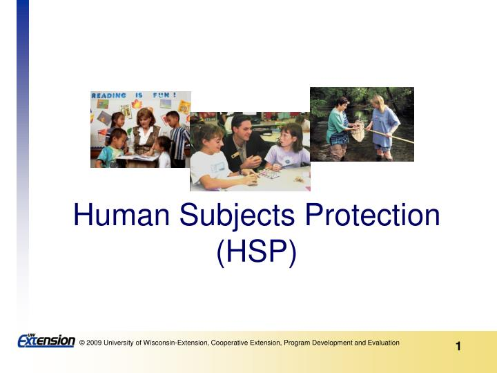 human subjects protection hsp n.