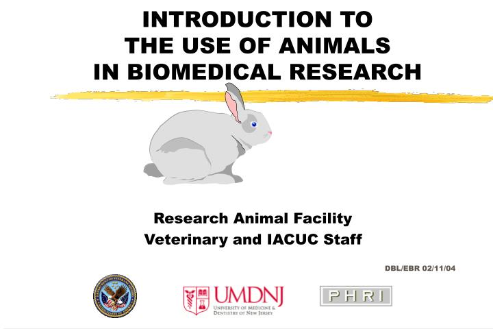 introduction to the use of animals in biomedical research n.
