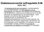 diabetesconventie zelfregulatie d m riziv 1987
