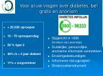 voor al uw vragen over diabetes bel gratis en anoniem