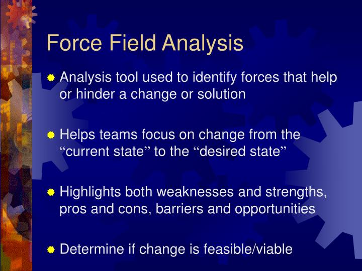 Force field analysis1