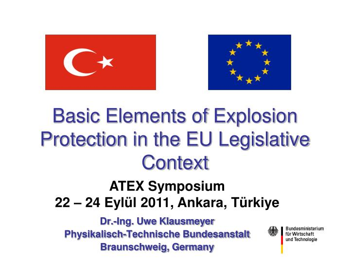 Basic elements of explosion protection in the eu legislative context