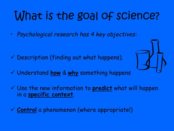 goals of psychological research Psychological research refers to research that psychologists conduct to systematic study and analyse of the experiences and behaviours of individuals or groups.