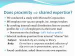 does proximity shared expertise1