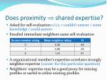 does proximity shared expertise2