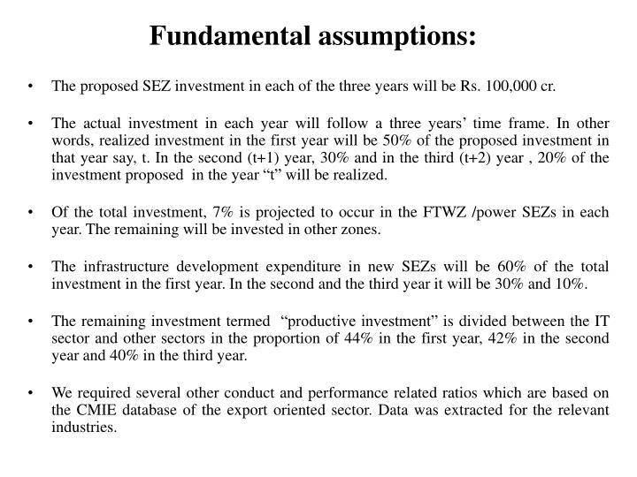 Fundamental assumptions:
