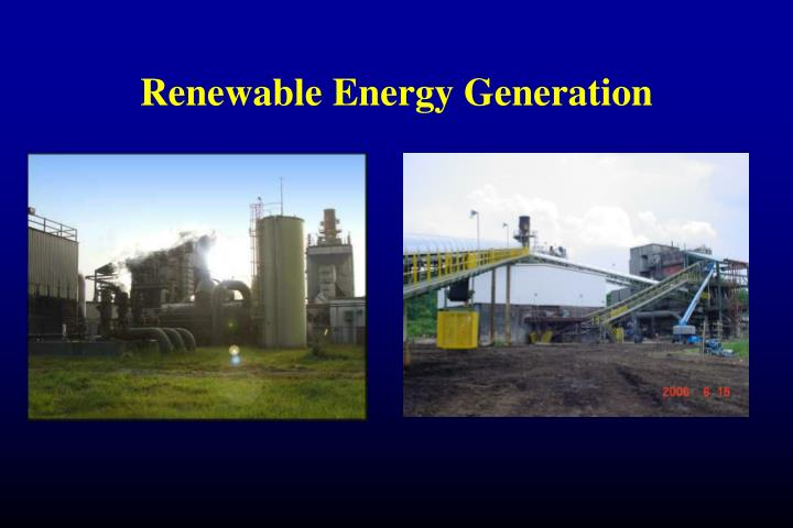 renewable energy generation n.