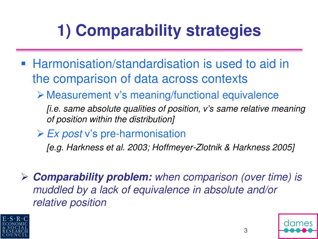 PPT - Comparability of categorical variables in longitudinal