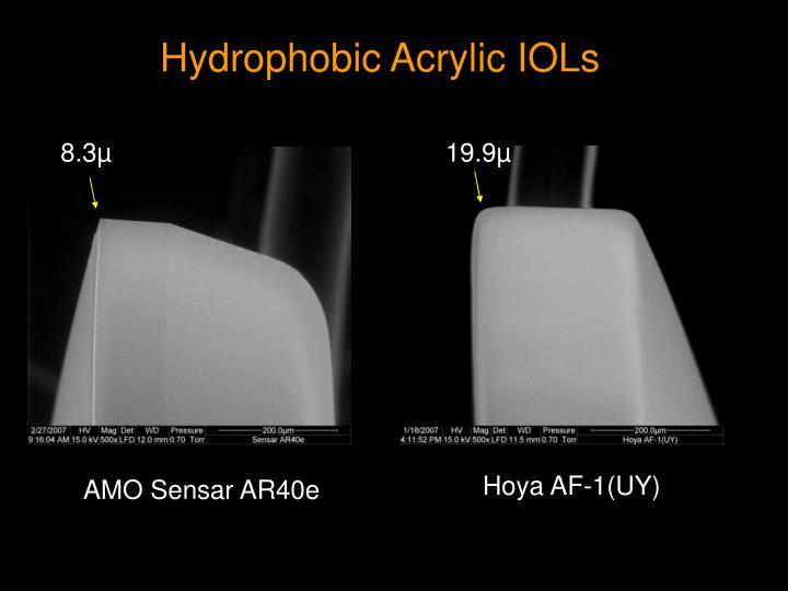 Hydrophobic Acrylic IOLs