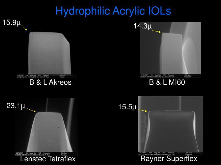 Hydrophilic Acrylic IOLs