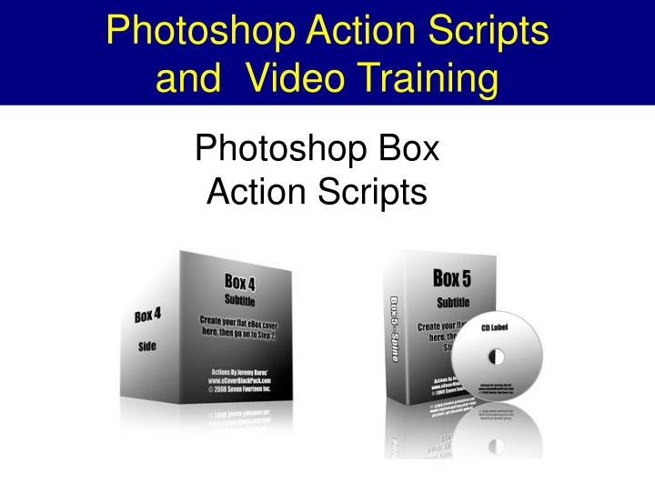 Photoshop action scripts and video training2