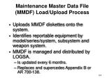maintenance master data file mmdf load upload process