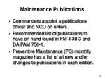 maintenance publications