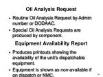 oil analysis request