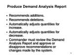 produce demand analysis report