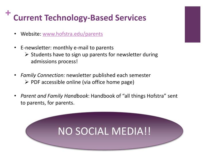 Current Technology-Based Services