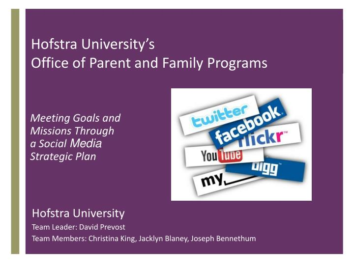 Hofstra university s office of parent and family programs