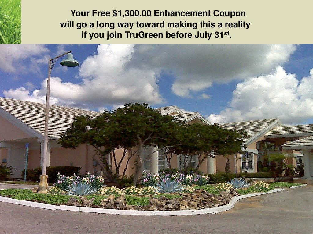 Your Free $1,300.00 Enhancement Coupon