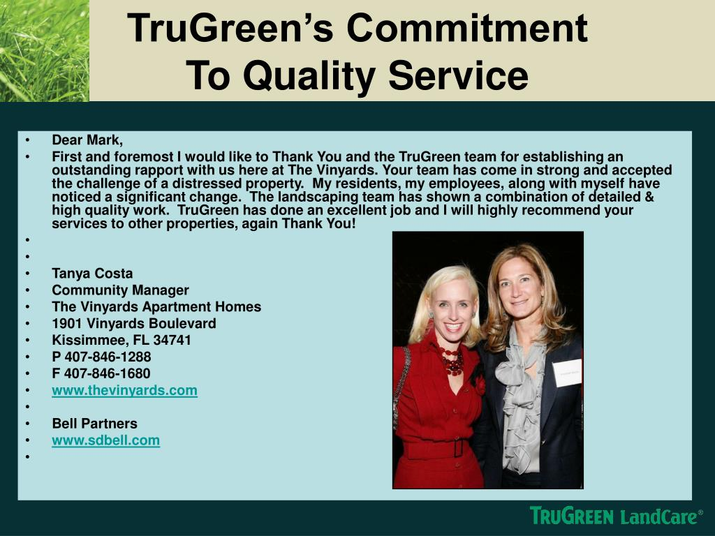 TruGreen's Commitment