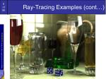 ray tracing examples cont2