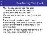 ray tracing tree cont