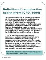definition of reproductive health from icpd 1994