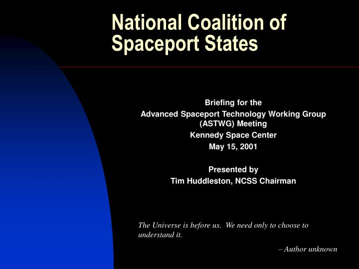 National coalition of spaceport states