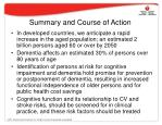 summary and course of action