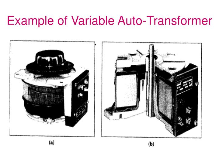 Example of Variable Auto-Transformer