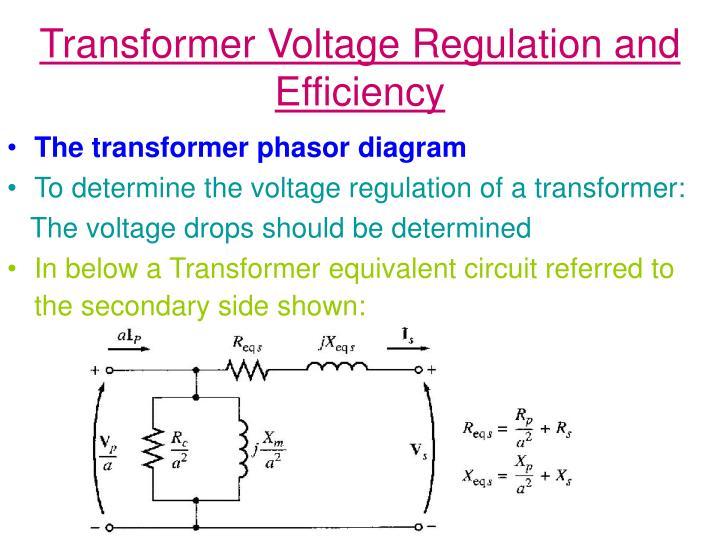 Transformer voltage regulation and efficiency1