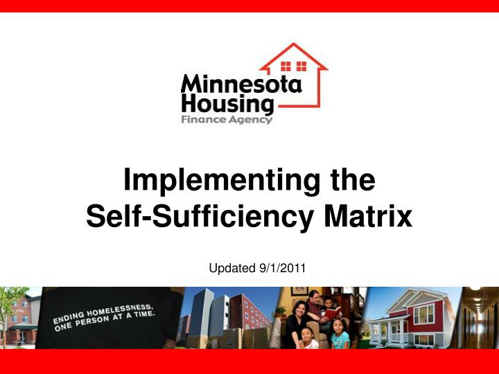 implementing the self sufficiency matrix n.