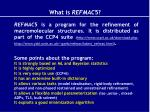 what is refmac 5