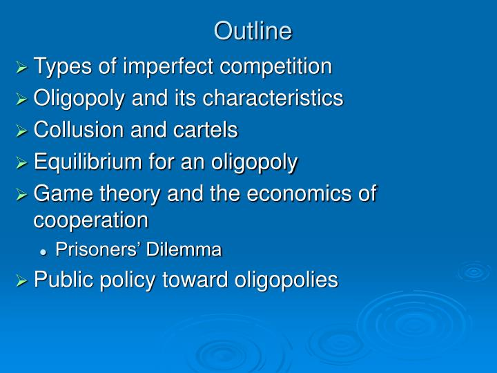 perfect competition and its characteristics economics essay Published: fri, 21 jul 2017 there are four types of market structures are perfect competition, monopoly, monopoly competition and oligopoly long run is the period of time that the firms are able to adjust the variable cost and fixes cost.