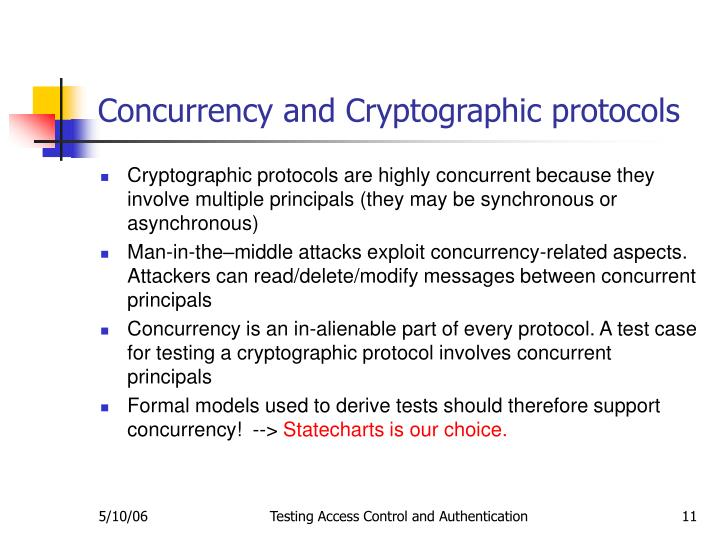 Concurrency and Cryptographic protocols
