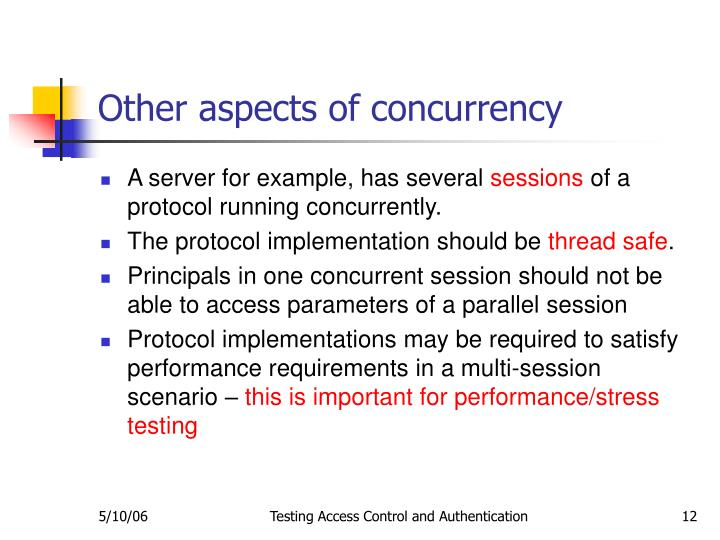 Other aspects of concurrency