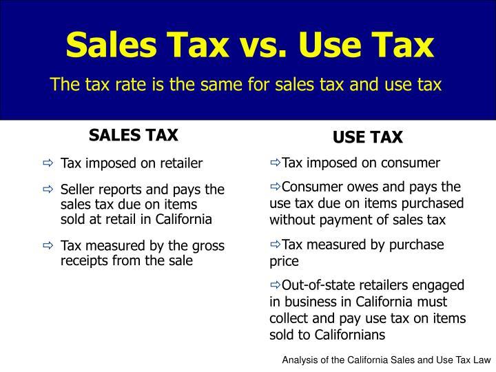 sales tax vs use tax n.