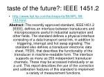 taste of the future ieee 1451 2