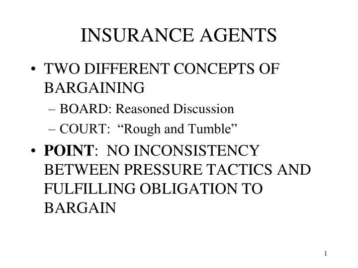 insurance agents n.