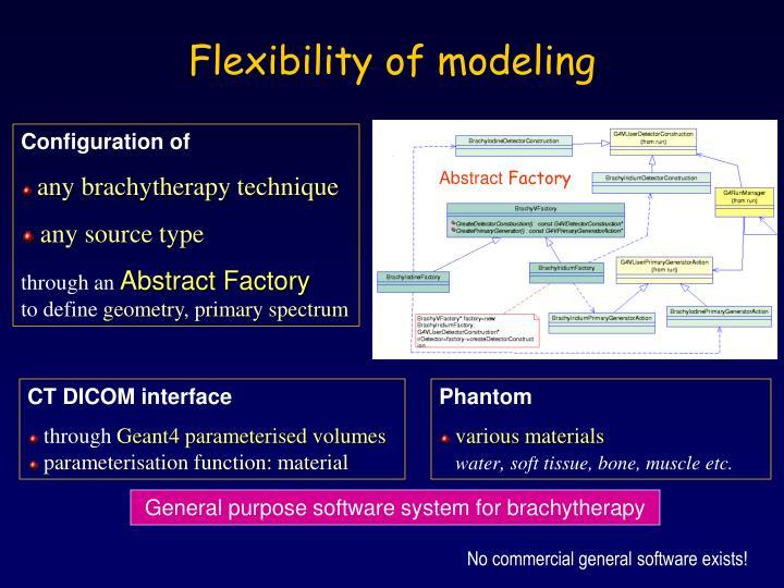 Flexibility of modeling